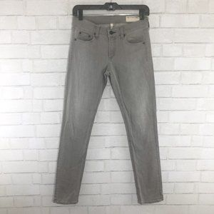 Rag & Bone The Dre Aged Gray Skinny Jeans Size 25